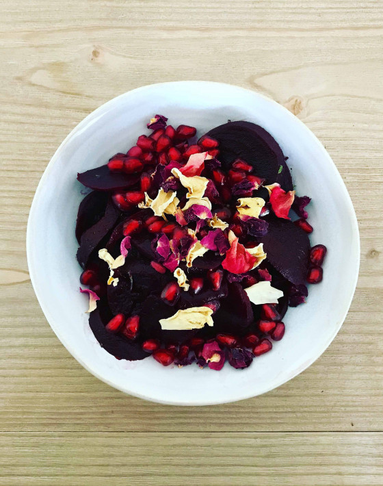 BEETROOT, ROSE & POMEGRANATE SALAD RECIPE