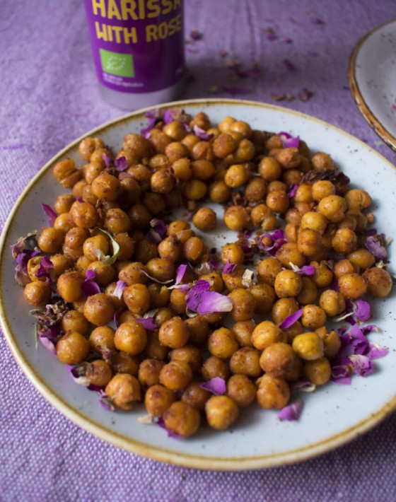 Niki's Crunchy Harissa Chickpeas and Slow Roasted Harissa Tomatoes Recipe