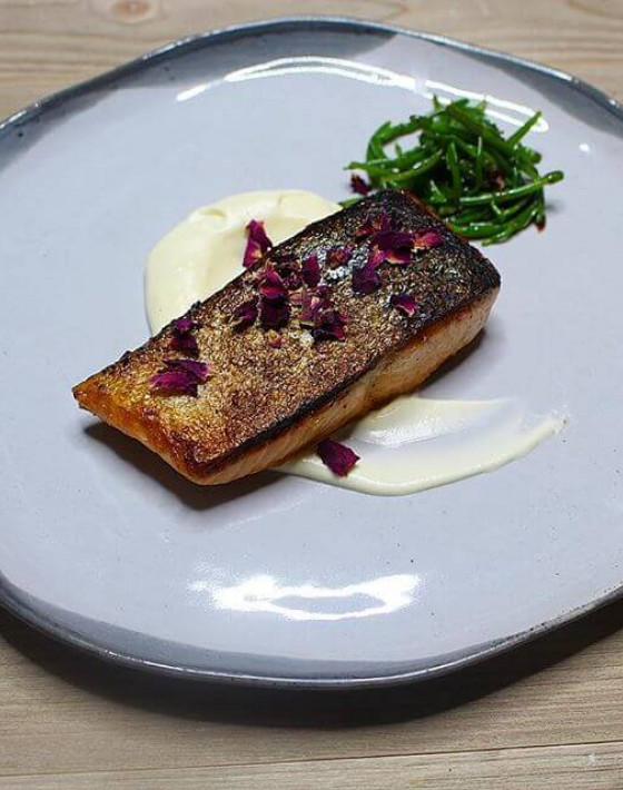HARISSA, ROSE & ORANGE SALMON RECIPE