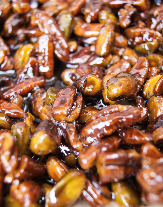 Rose water candied nuts