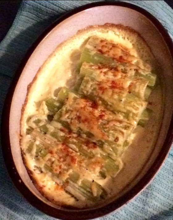Baked Celery With Cream