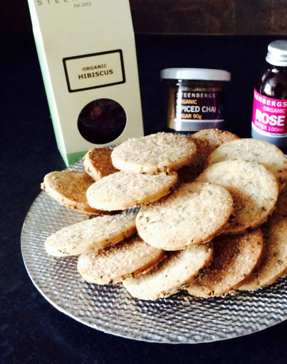 Steenbergs Hibiscus tea and rose butter biscuits