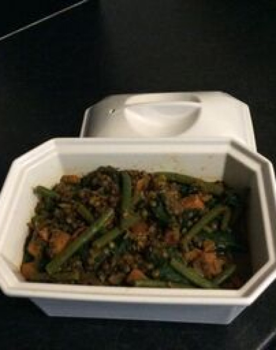Sweet Potato, Spinach, French Bean and Lentil Dahl