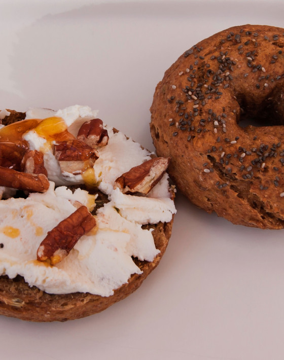Pumpkin and coffee bagels