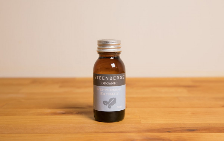 Organic Peppermint Extract 60ml - glass jar