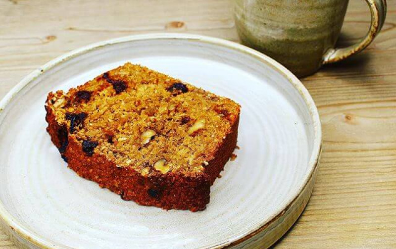 WALNUT AND SOUR CHERRY BANANA BREAD RECIPE
