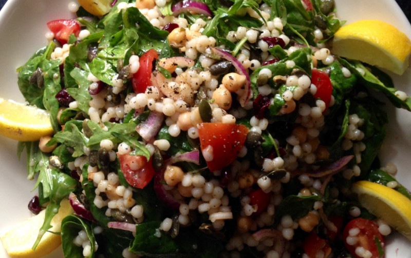 Giant Couscous and Chickpea salad