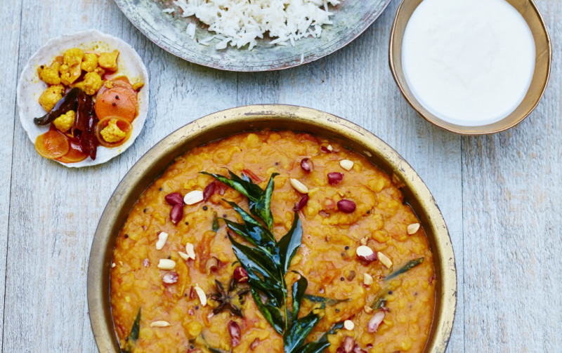 Gujarati Dal with Peanuts & Star Anise